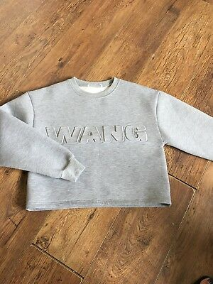 Alexander Wang X H&M Grey Scuba Sweater Size S Great Condition