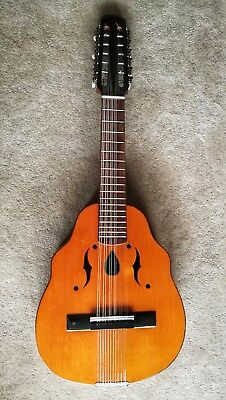 spanish laud, 12 string, guitar, new strings, lovely tone