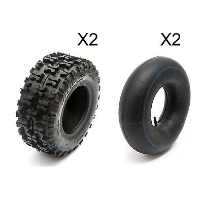 Rear Tyre 13 x 5.00 - 6 Knobbly x 2   Inner Tube x 2 Drifter Midi Electric Quad