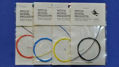 1/24 1/25 Spark Plug Leads Set Of Four 4 Colours Red, Blue, Yellow, And Black