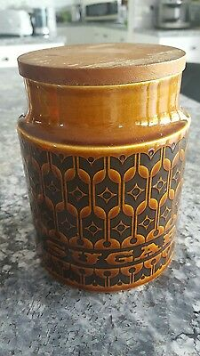 Hornsea Heirloom Lidded Sugar Cannister. England 1978. Vintage Retro.