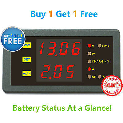Battery Voltage Monitor Buy 1 Get 1 Free 6in1 Volt AMP Power AH Remaing Capacity