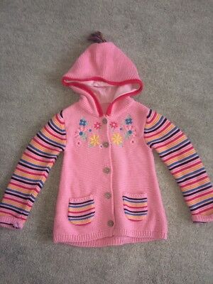 Girls 18-24 Months Tu Cardigan, Multicoloured, Hooded, Winter