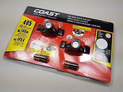 Coast FL72 Headtorch Twin Pack. 405 Lumen. As sold by Snap On.