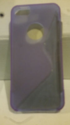 Purple S Curve Gel Case for iPhone 5
