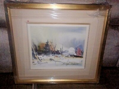 "Marcellin Dufour quebec oil painting 10 x 12"" framed"