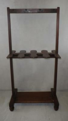 """Vintage Wooden Boots And Whips Rack -37"""" x 18"""" x 13"""""""