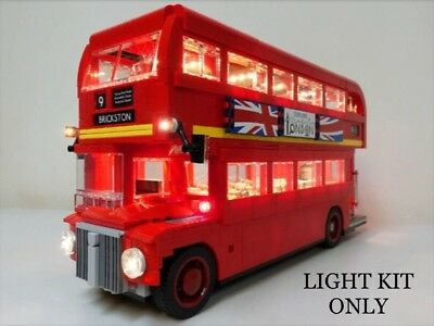 Usb Led Light Kit For Lego Creator Routemaster London Bus 10258   **man Cave**