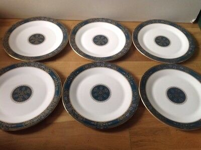 Royal Doulton Carlyle Pattern H 5018 ( 6 Large Dinner Plates 27cm ) 1st Quality