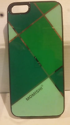 Green Pattern Hard Back Shell Case for iPhone 5