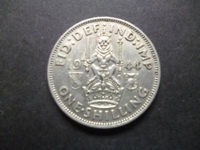 1944 One Shilling Coin The Scottish Type Good Circulated Condition, 50% Silver.