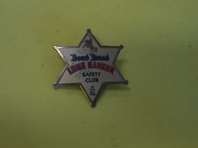 Vintage THE LONE RANGER Safety Club Bond Bread Star Badge (c. 1938)