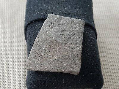 Lovely Poignant Roman grey ware pot shard with Christogram cross mark L45o