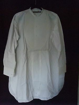 Three Original 1921 Vintage Starched Bib Dress Shirts Size Large