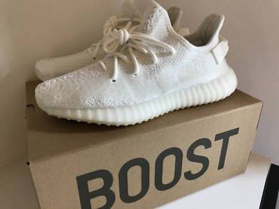 "Adidas Mens Yeezy Boost 350 V2 ""Cream"" White SIZE 8 free shipping"