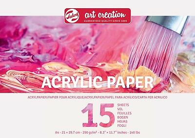 Talens Art Creation Acrylic Painting Paper Pad / Block 15 Sheets A4 or A3