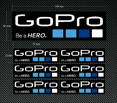 GO PRO - Be a Hero decals 7 x Quality Printed & Laminated Stickers