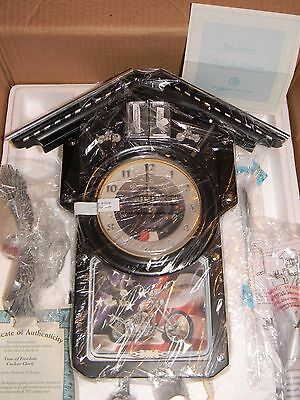 Bradford Exchange Motorcycle Themed Time of Freedom Wall Cuckoo Clock NEW