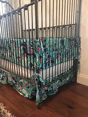 Lilly Pulitzer Crib Bedding.  Bumper And Skirt For Baby Girl.  Trunk Show.