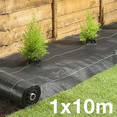 1x10M 100g Heavy Duty Weed Control Woven Fabric Ground Cover Mulch Membrane
