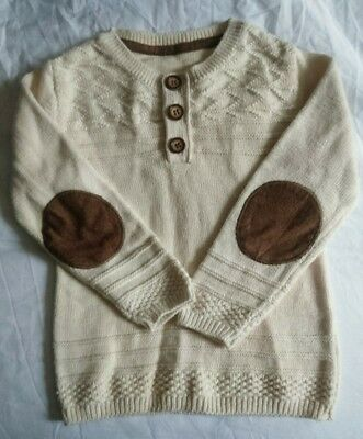 Mothercare boys fine knit cream jumper 18-24 months BNWOT