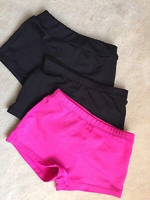Girls Freestyle By Danskin Dance Shorts. 3 Pairs. Size 4/5
