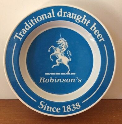 Robinson's Traditional Draught Beer Large Melamine Advertising Ashtray England