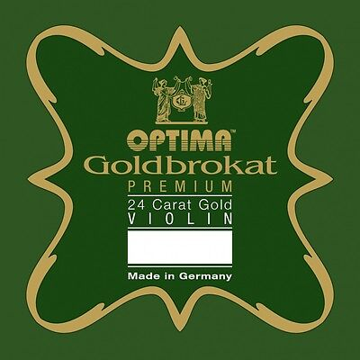 GOLD BROCADE 24K GOLD PREMIUM 4/4 Violin E string in 5 Strengths with Ball