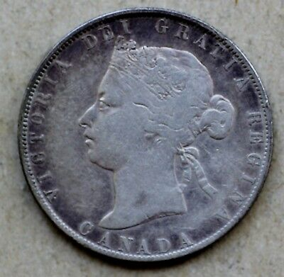 1870 Canada 50 Cents, Silver