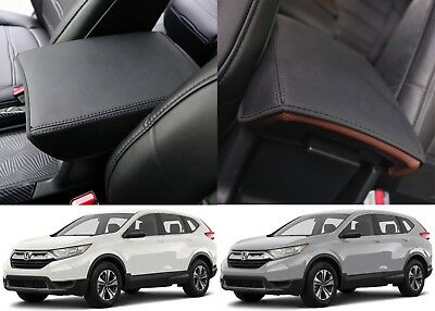 Slip On Leather Armrest Center Console Cover For 2017 Honda CRV New Free Ship