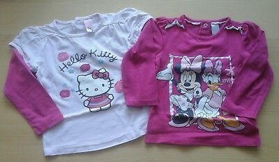 Baby Mädchen 2 Langarmshirts Pullover Gr. 86 C&A Minnie Mouse Daisy Hello Kitty