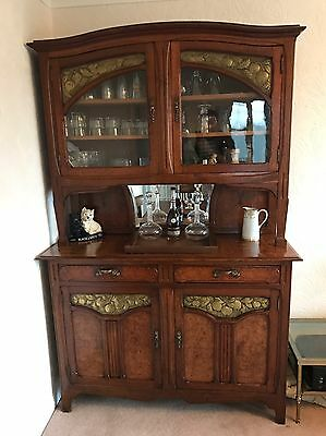 Large Art Nouveau French Sideboard / Buffet Dresser