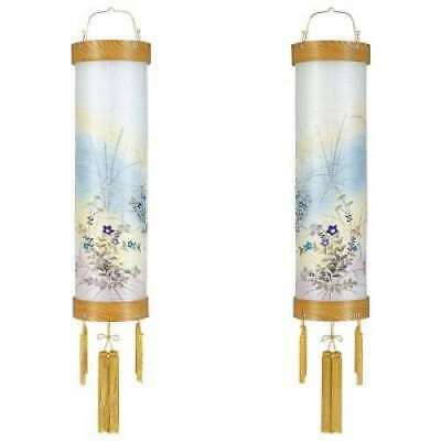 Sumiyoshi JAPAN Lantern No.8: 5559-W (Pair)  Zelkova veneer plywood, Silk