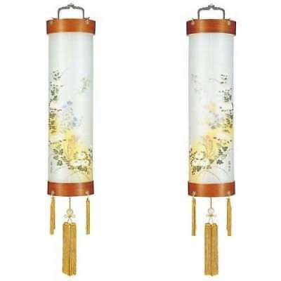 Sumiyoshi JAPAN Lantern No.9: 5389-W (Pair)  Zelkova veneer plywood, Silk
