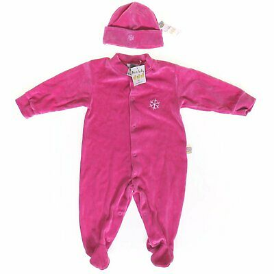 Noa Lily Layette Pima Cotton Footie & Hat Gift Set