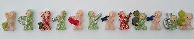 12 Vintage Celluloid Figural  Character Children Orchestra Toy Toys