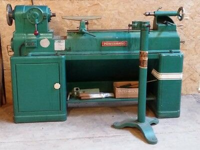 Powermatic lathe model 90 & outboard turning stand. 3 phase.