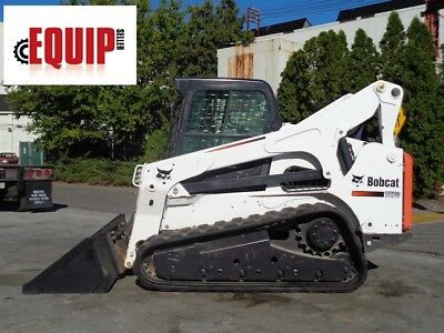 2013 Bobcat T870 Track Skid Steer Loader - Enclosed Cab - Heat and AC - Aux Hydr