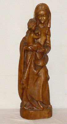 Antique Carved Statue Wooden Figure Holy Madonna Carved Wood Wood 83cm