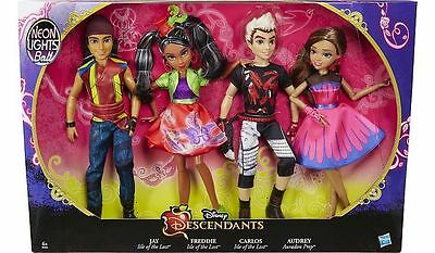 ❤️disney Descendants Neon Lights  Ball Exclusive  4-Pack~ Bnib❤️