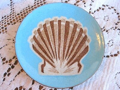 Rare Enamel On Copper Sea Shell Mcm Annemarie Davidson Small Bowl Plate Tray