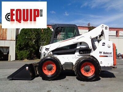 2013 Bobcat S770 Wheel Skid Steer Loader - Enclosed Cab - AC - Radio - Aux Hydra