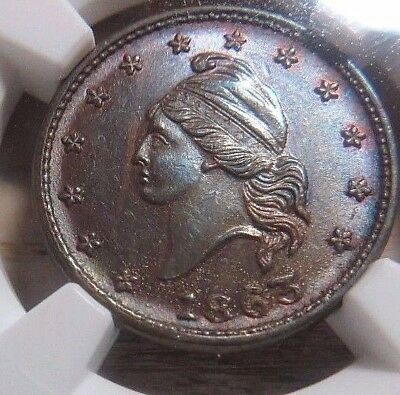 """"""" ARMY & NAVY """" PATRIOTIC CWT   12/297a    NGC  MS-64    NO Reserve"""