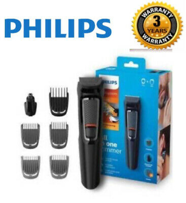 Philips MG3720/33 Multigroom Series 3000 7-in-1 Face Body Nasal Clipper Trimmer
