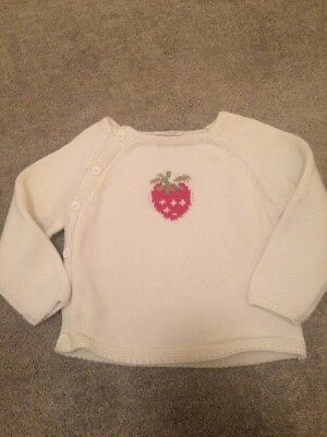 6-9 Months Next White Jumper With Strawberry, Girls, Winter