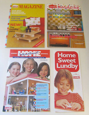 4 Lundby Dollhouse Catalogs or Brochures - Småland and Stockholm Houses