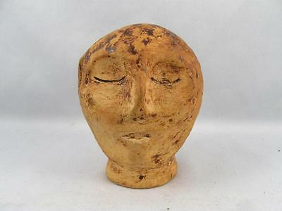 Vintage Art Pottery Human Head Signed Lemon Tree Pottery Hew
