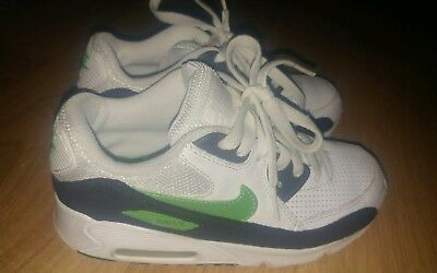 Nike Air Max 2008 White Green Black Youth Size  Pre Owned Nice