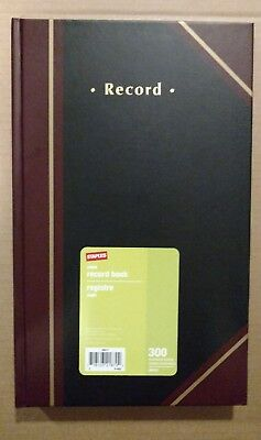Staples Ruled Record Book 300 Numbered Sheets Brand New Never Used