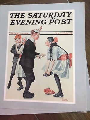 "Saturday Evening Post Sepco Print Dance Couple 1918 Norman Rockwell 10"" x 12"""